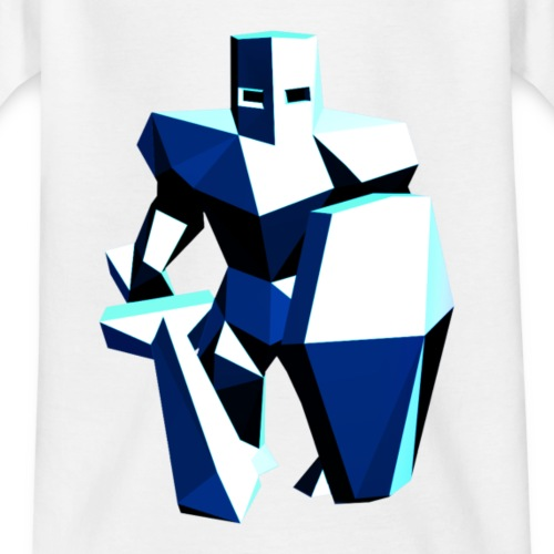 Low Poly Knight Color - Kinder T-Shirt