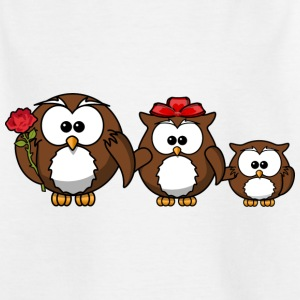Owl family - Kids' T-Shirt