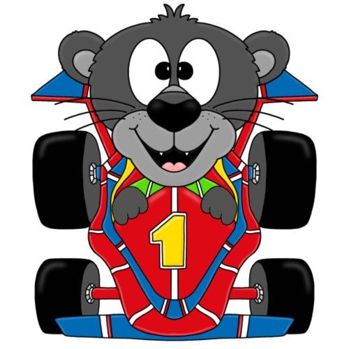 Panther - Rennfahrer - Auto - Tier - Comic - Kinder T-Shirt