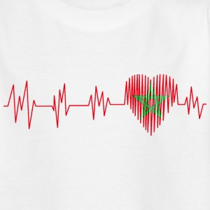 Morocco Morocco المغرب Heart pulse heart beat - Kids' T-Shirt
