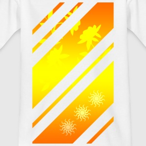Golden Lines Pattern - Børne-T-shirt
