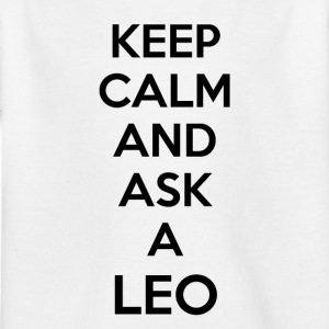 Leo Keep Calm - Kinder T-Shirt