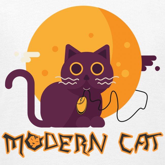 gatto moderno animale topo luna arte animale domestico