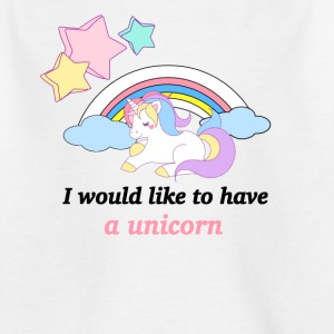 Unicorn sova på Rainbow - T-shirt barn