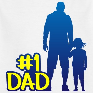Dad is number one fathers day - Kids' T-Shirt