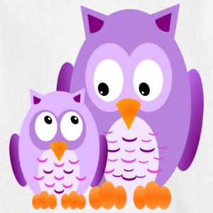 Owls - Lilla - T-skjorte for barn