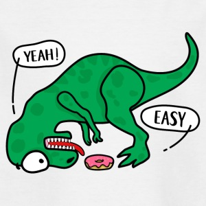 T-REX trying to eat a donuts T-shirt - Kids' T-Shirt
