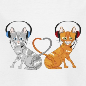 Cats in chat - Kids' T-Shirt