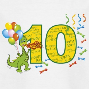 10th birthday baby 10 years with dragon - Kids' T-Shirt