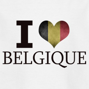 I LOVE BELGIUM - T-skjorte for barn