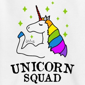 Unicorn Squad gym fitness - Kinder T-Shirt