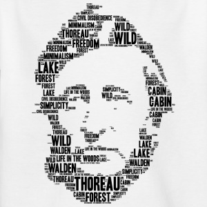thoreau stencil word cloud - Kids' T-Shirt