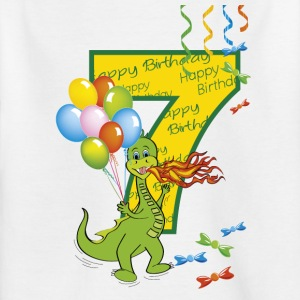 7th birthday baby 7 years with dragon - Kids' T-Shirt