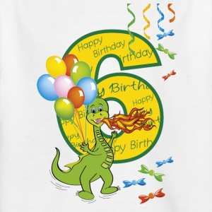 Sixth birthday 6 year old dragon - Kids' T-Shirt