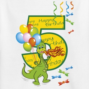 5th birthday baby 5 years old dragon 01 - Kids' T-Shirt