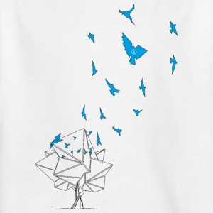 birds_blue - T-shirt barn