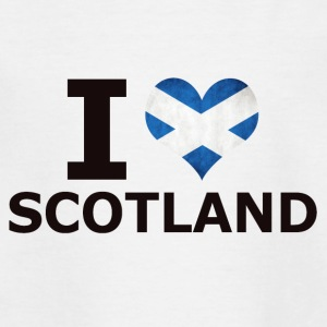 I LOVE SCOTLAND FLAG - Kinder T-Shirt