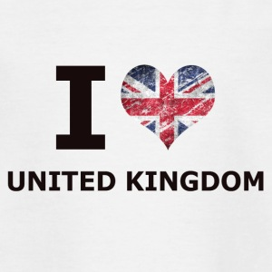 I LOVE UNITED KINGDOM FLAG - Kids' T-Shirt