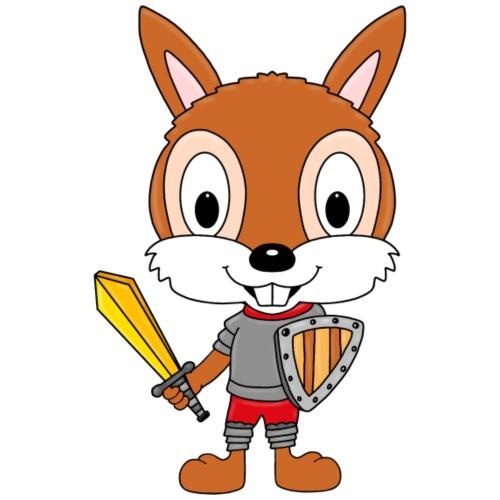 Eichhörnchen - Ritter - Kinder - Tier - Comic - Kinder T-Shirt