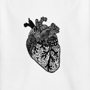 Heart, anatomy, Zentangle - Kids' T-Shirt
