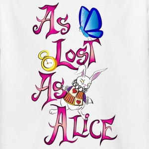 as lost as alice - Camiseta niño