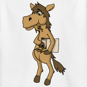 Cool horse horse Horse feed hay animal stable - Kids' T-Shirt