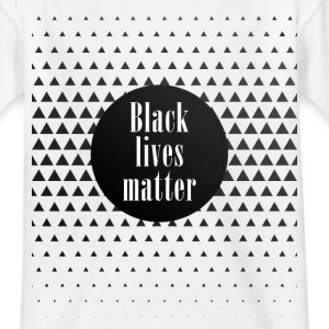 black lives matter pattern cool black slogan fun - Kids' T-Shirt