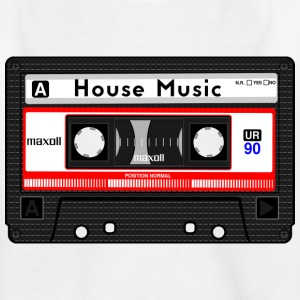 HOUSE MUSIC KASSETTE - Kinder T-Shirt