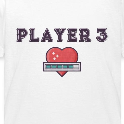Player 3 Familien Partnerlook Geschwister Geschenk - Kinder T-Shirt