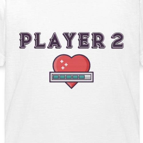 Player 2 Familien Partnerlook Geschwister - Kinder T-Shirt