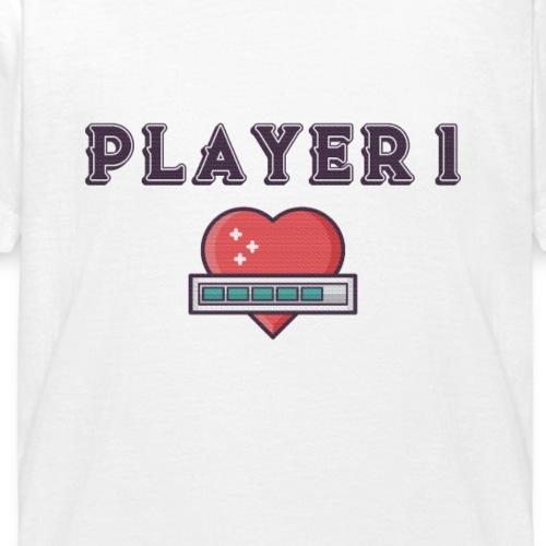 Player 1 Familien Partnerlook Geschwister - Kinder T-Shirt