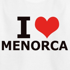 I LOVE MENORCA - Kinder T-Shirt