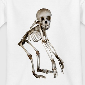 Baby Chimpansee Skeleton door Wild World Designs (WWD) - Kinderen T-shirt