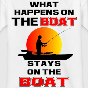 What Happens on the Boat - Kids' T-Shirt