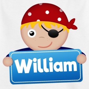 Kleine Piraat William - Kinderen T-shirt