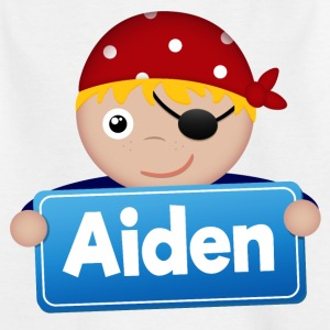 Kleiner Pirat Aiden - Kinder T-Shirt