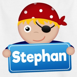 Kleiner Pirat Stephan - Kinder T-Shirt