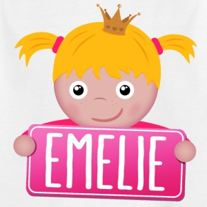 Little princess Emelie - Kids' T-Shirt