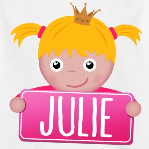 Lille prinsesse Julie - T-skjorte for barn