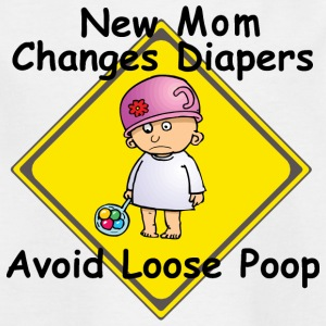 New Mom Changes Diapers Avoid Loose Poop - Kids' T-Shirt