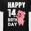piggy de 14 años - feliz cumpleaños- - Camiseta niño