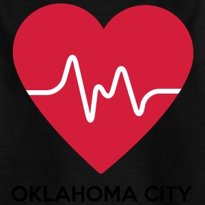 Herz Oklahoma City - Kinder T-Shirt