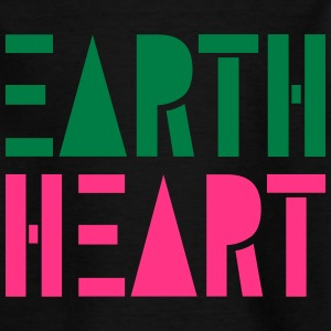 Earth Heart in Geometric Shapes, - Kids' T-Shirt