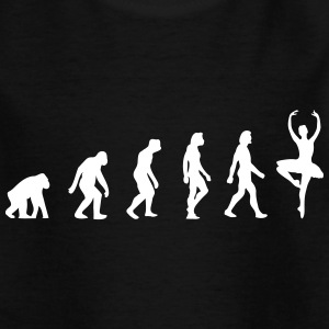 Die Evolution der Ballerinen - Kinder T-Shirt