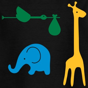 Storch, elephant, giraffe - Best Friends - Kids' T-Shirt
