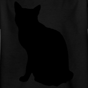 Vector Cat Silhouette - T-skjorte for barn