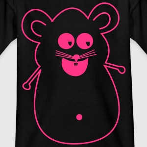 Maus pink Silhouette - Kinder T-Shirt