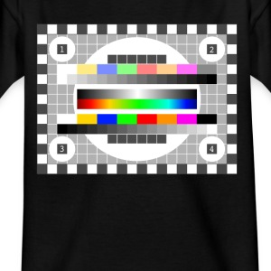 testbild color pattern retro stylish TV running - Kids' T-Shirt