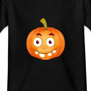 emoji pumpkin Happy Thanksgiving t-shirt comic stup - Kids' T-Shirt
