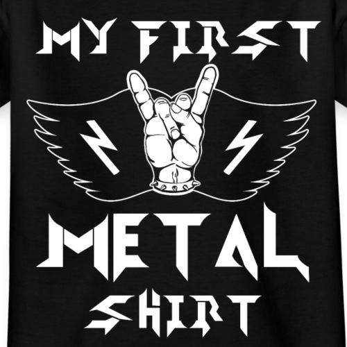 My first Metal Shirt Baby Kinder Heavy Metal - Kinder T-Shirt